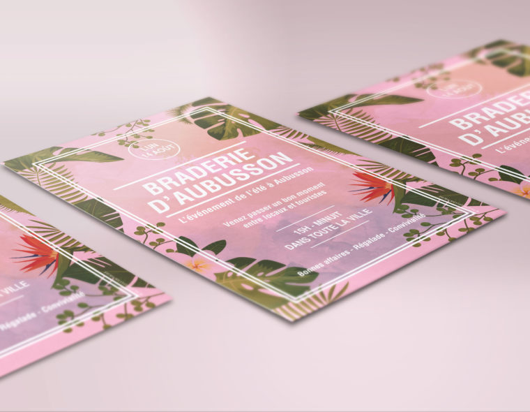 flyer-a5-recto-illustration-tropical-braderie-daubusson