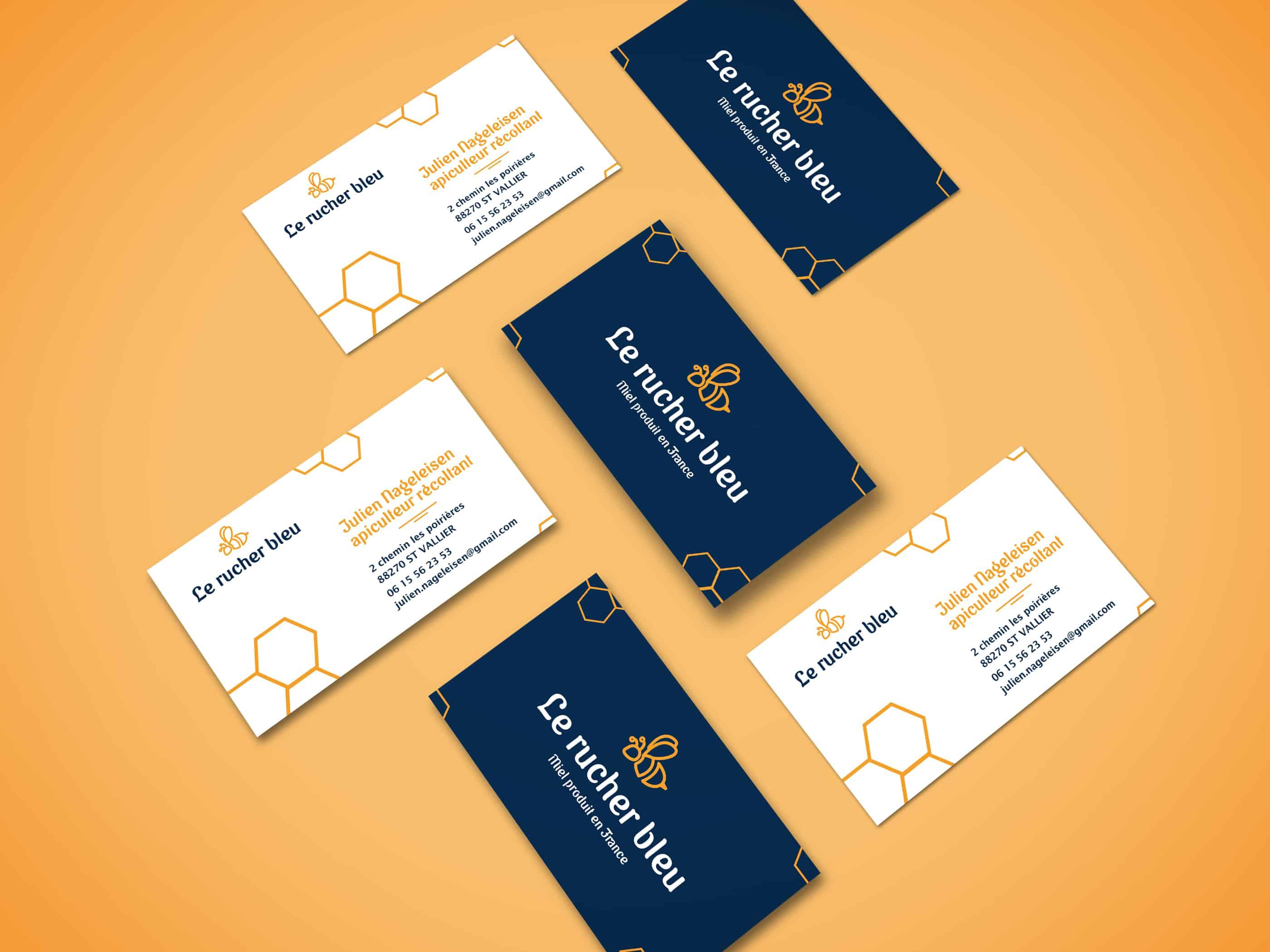 carte-de-visite-recto-verso-identite-visuelle-pour-le-rucher-bleu-apiculteur