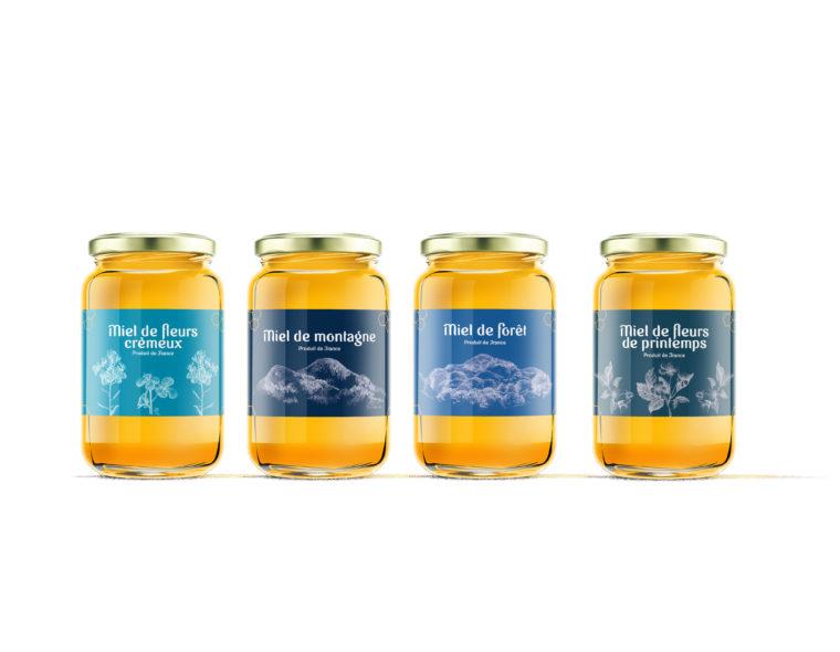 etiquette-packaging-pot-de-miel-pour-le-rucher-bleu-apiculteur