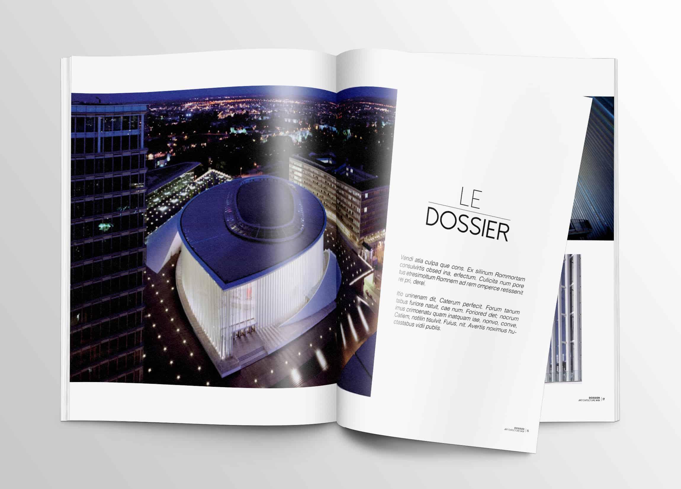 dossier-double-pages-magazine-darchitecture-double-page-edition-graphisme-minimaliste