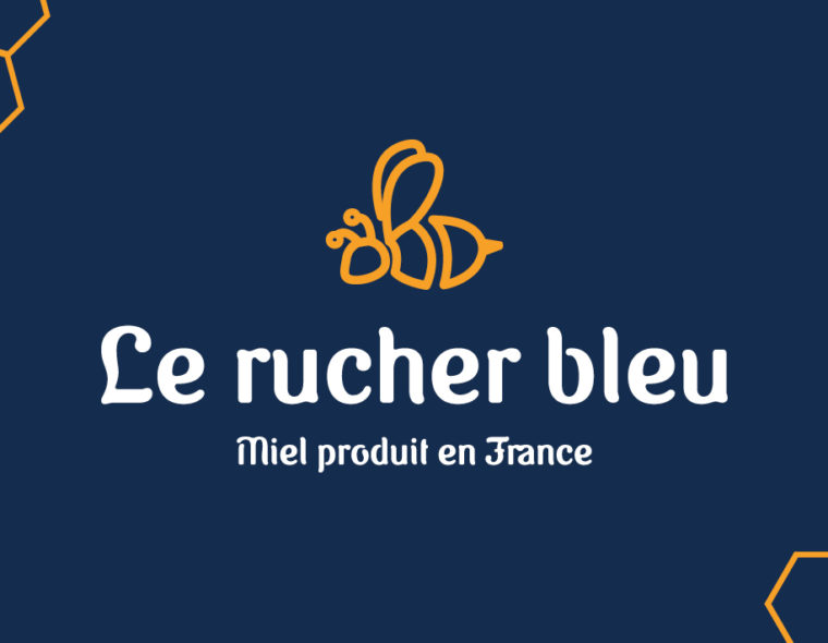 logo-pour-le-rucher-bleu-apiculteur-miel-produit-en-france