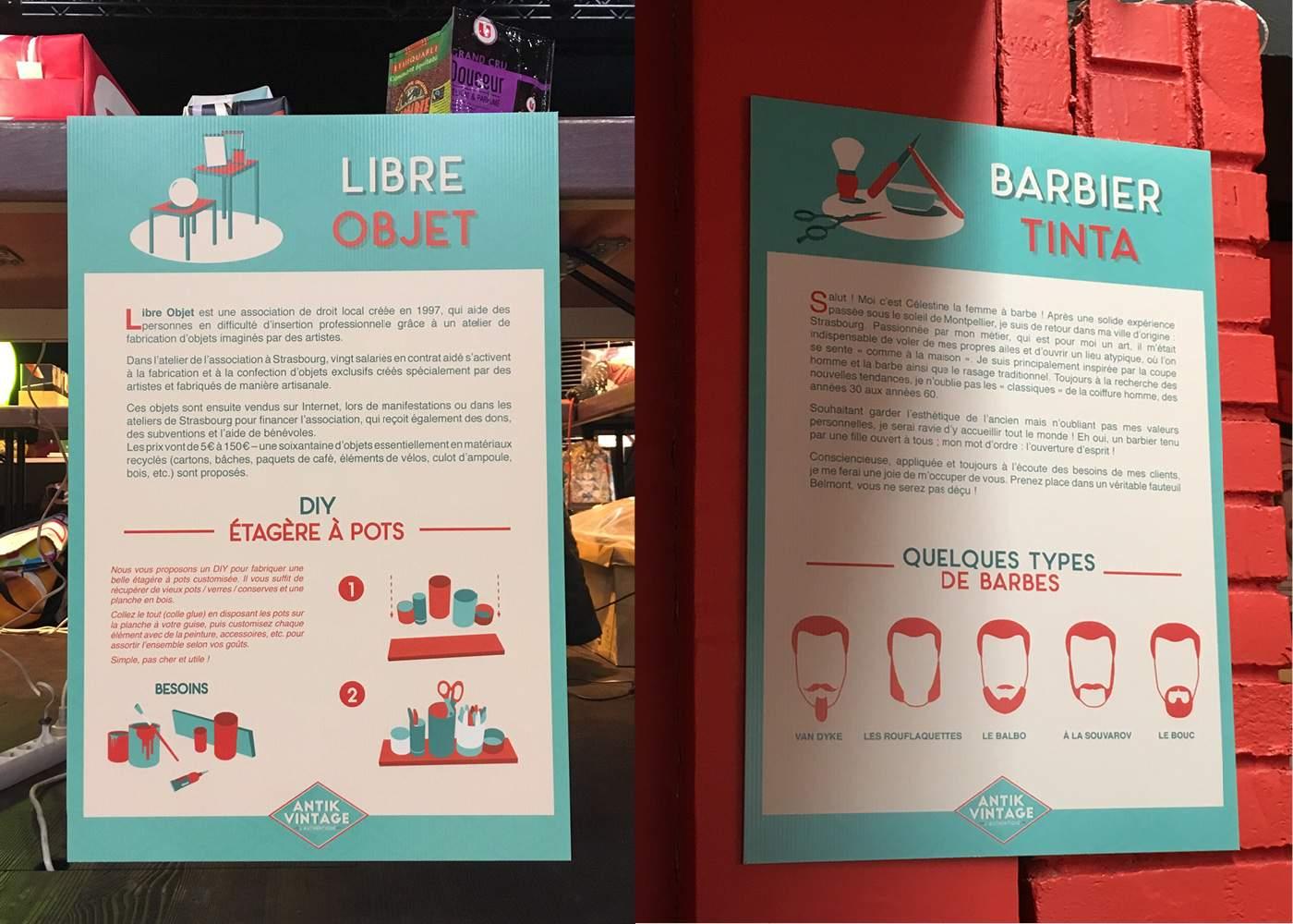 panneaux-signaletique-pour-levenement-antik-vintage-sur-strasbourg-illustration-vectorielle-infos pratiques-culturel