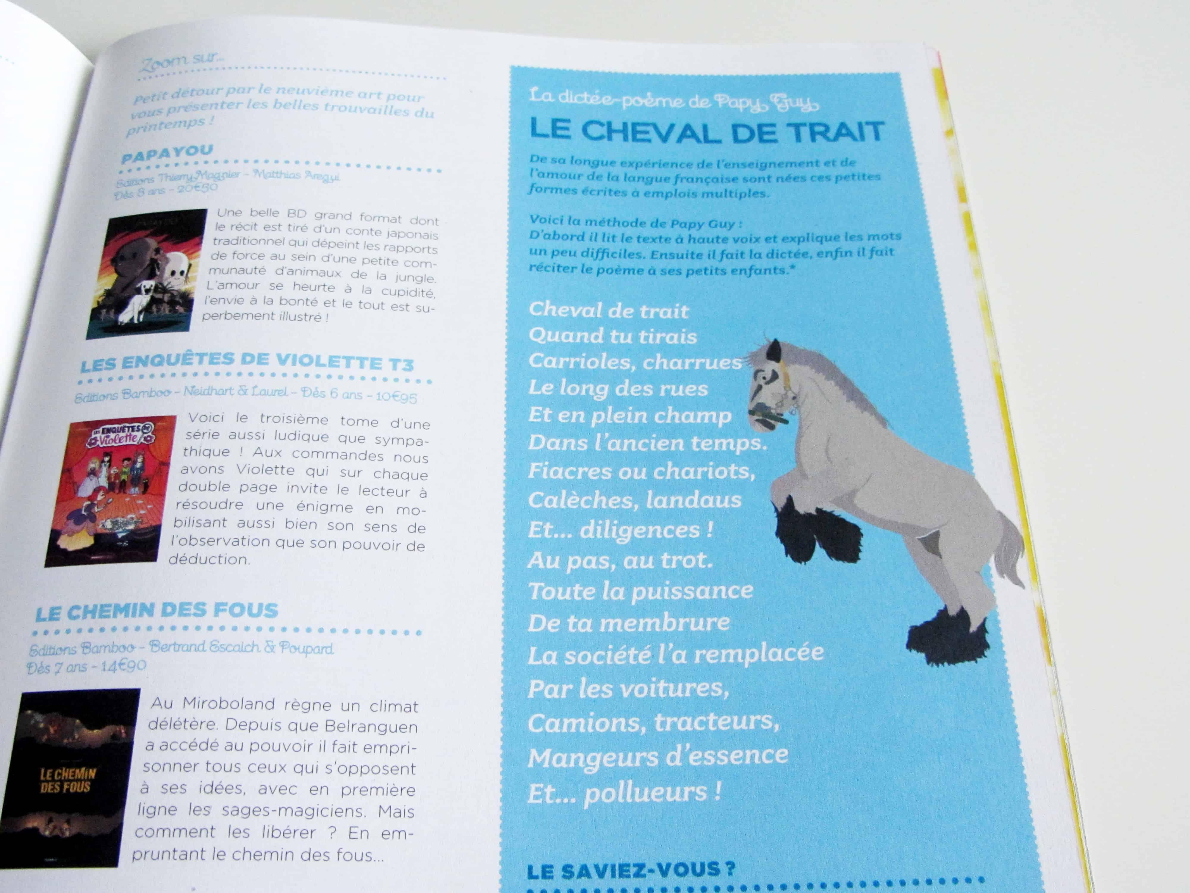 parution-illustration-dictée-sur-le-cheval-de-trait-dans-le-magazine-bibouille-dessin