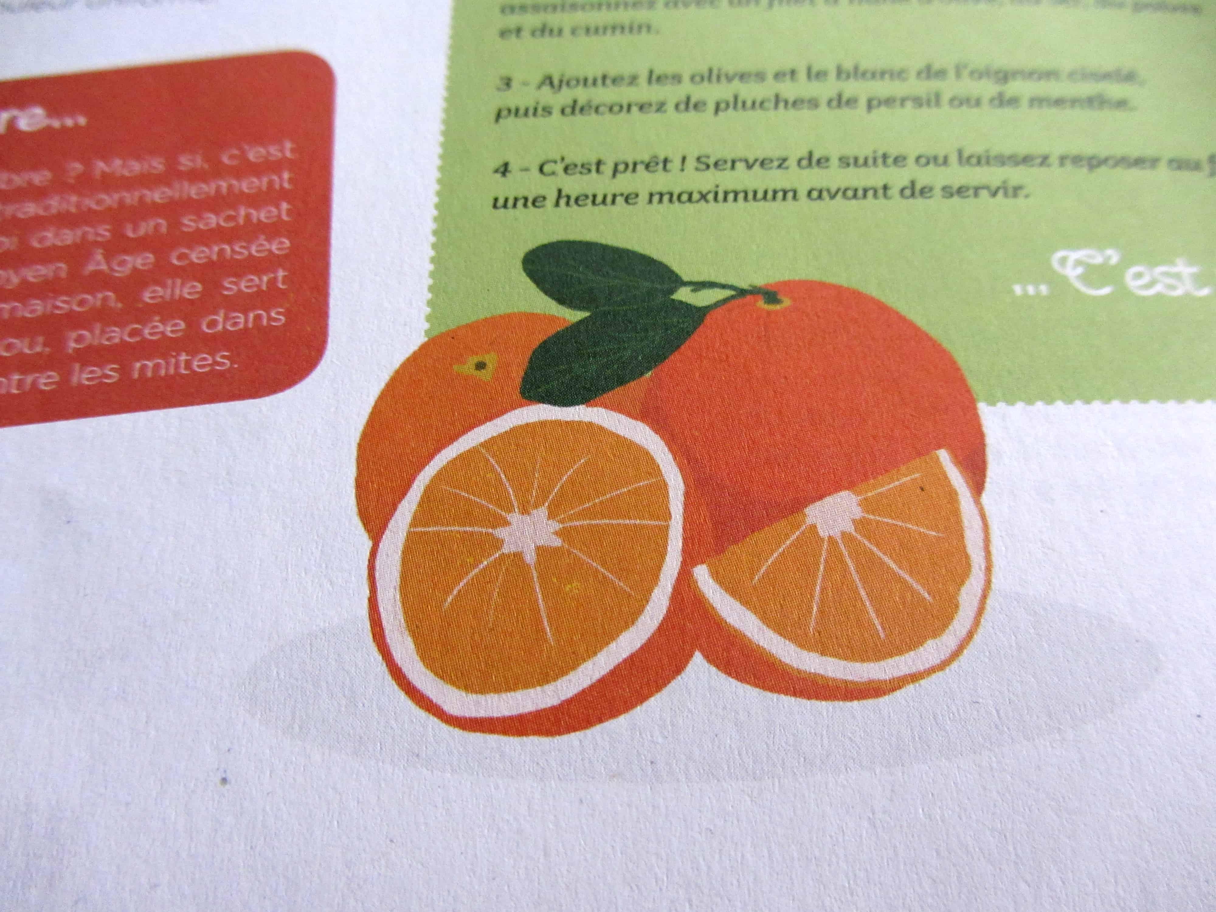 parution-illustration-rubrique-cest-de-saison-lorange-dans-le-magazine-bibouille-recette-dessin