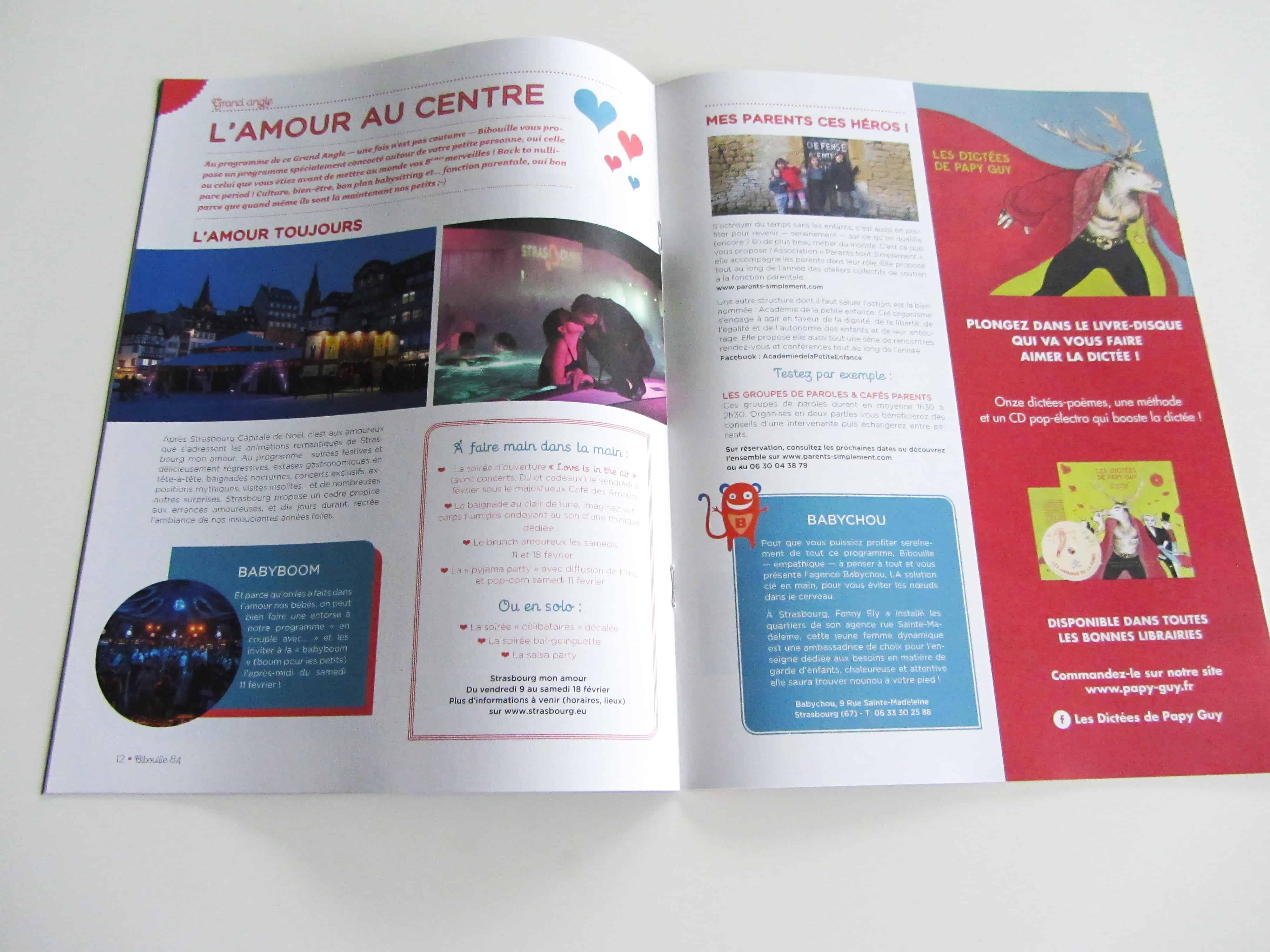 mise-en-page-de-la-rubrique-grand-angle-st-valentin-du-magazine-bibouille-destine-aux-famille-edition-en-alsace