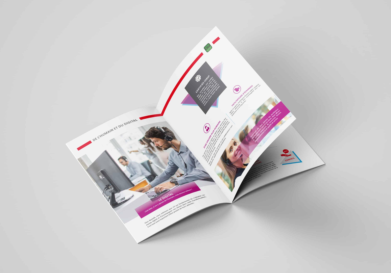 double-page-de-la-brochure-de-presentation-de-service-nextalk