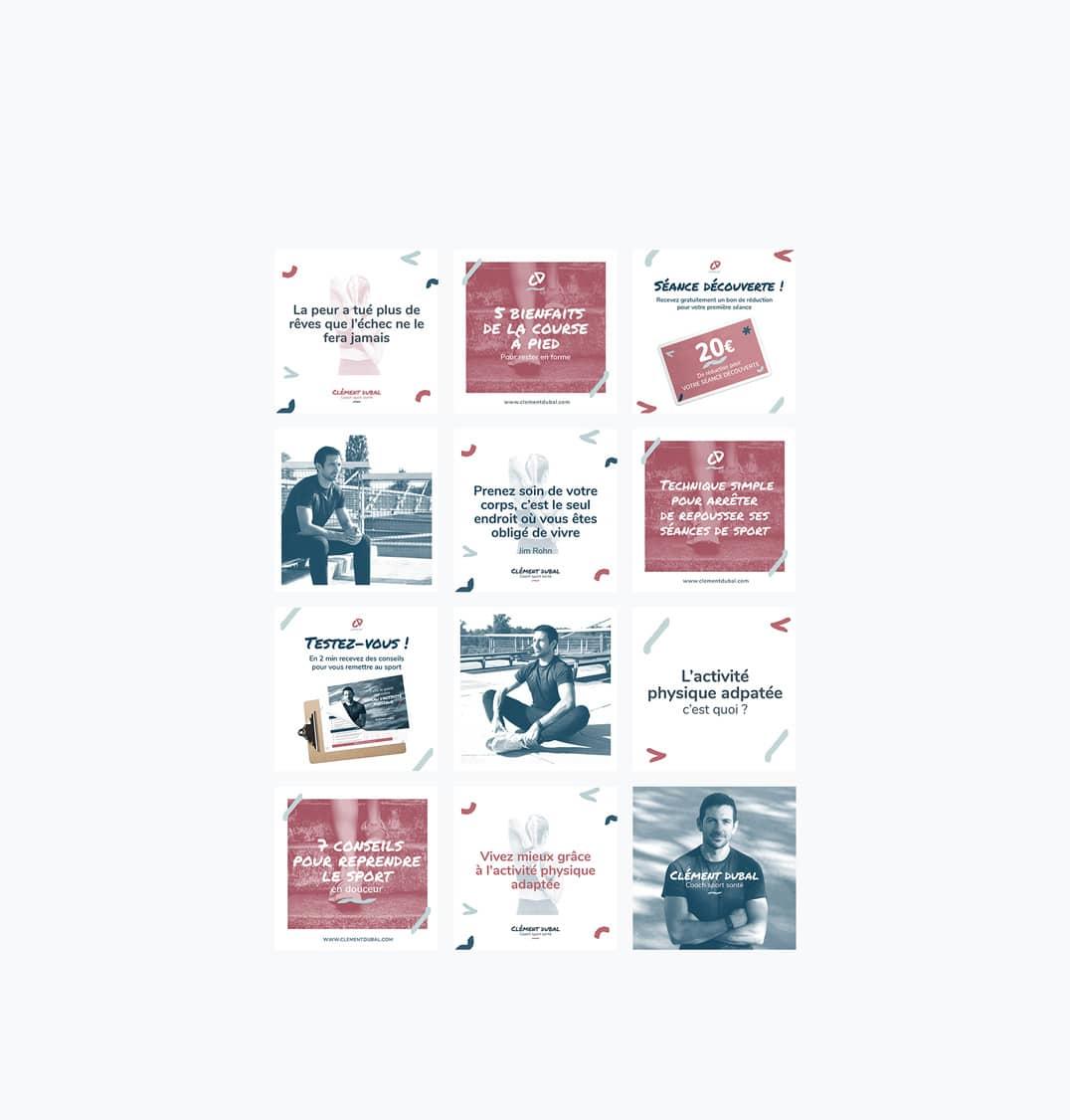 creation-dune-strategie-social-media-et-des-visuel-instagram-pour-clement-dubal-coach-a-strasbourg